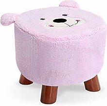 QIAOLI Taburete de sofá creativo de moda oso
