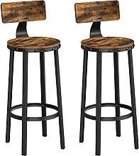 QILIYING 2 taburetes de bar con diseño industrial