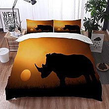 Qinniii Bedsure Funda Nórdica,rinocerontes