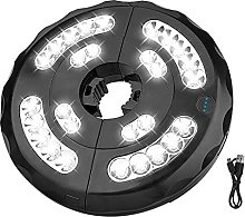QOTSTEOS Luces para sombrilla de patio, 28 luces