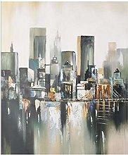 Qqwer Pintura Al Óleo Abstracta Sobre Lienzo Arte
