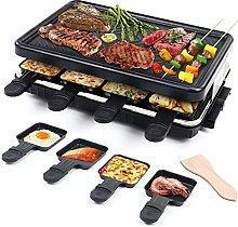 Raclette para 8 Personas Grill Plancha Cocina