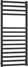 Radiador toallero negro mate Square | H1200 L500