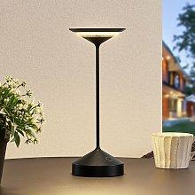 Raminum lámpara de mesa LED exterior negra -