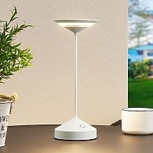 Raminum lámpara mesa LED exterior, blanco -