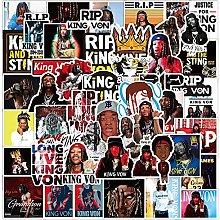 Rap Singer King Von Pegatinas Portátil Guitarras
