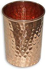 Rastogi Handicrafts Vaso de cobre puro martillado