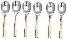 RATNA Juego de 6 cucharas de servir de acero