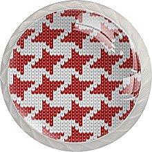 Red Knitting Christmas-01 (4 piezas) Perillas de