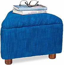 Relaxdays–Taburete Azul Acolchada de