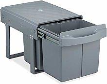 Relaxdays 10031543 - Cubo de basura empotrable (3