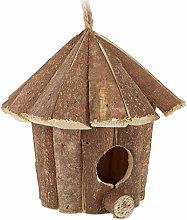 Relaxdays, Casa de pájaros Decorativa Natural,
