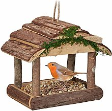Relaxdays Comedero para pájaros de Madera, para