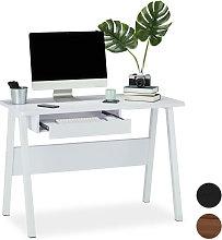 Relaxdays - Escritorio con bandeja para teclado,