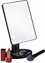 Relaxdays Espejo de Maquillaje con LED, con pie,