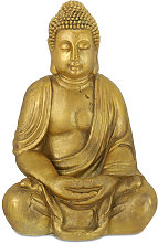 Relaxdays - Estatua Buda Jardín, Resistente a la