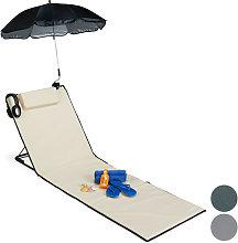 Relaxdays - Esterilla de playa con respaldo,