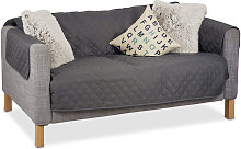 Relaxdays - Funda para sofás de dos plazas,