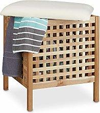 Relaxdays - Mueble/contenedor, puf para el baño,