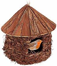 Relaxdays Nido de pájaros para Colgar, jardín,