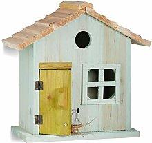 Relaxdays Nistkasten, Vogelhäuschen, Tür,