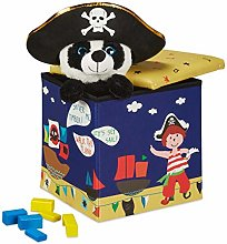 Relaxdays Puf Infantil con diseño de Piratas,