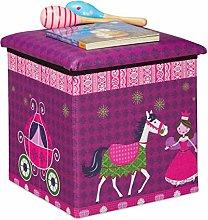 Relaxdays Puf Infantil, diseño de Princesa,