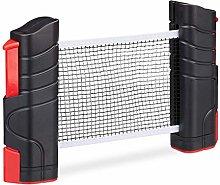 Relaxdays Red Ping Pong Extensible para Mesas con