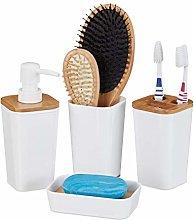 Relaxdays Set de 4 Accesorios de baño,