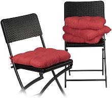 Relaxdays - Set de 4 Cojines para Sillas,