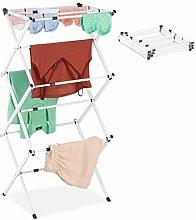 Relaxdays Tendedero Vertical Plegable, Extensible,