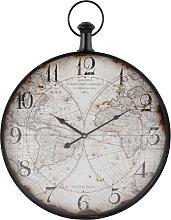 Reloj de bolsillo de metal con estampado de