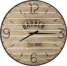 Reloj de listones de abeto estampado y metal negro
