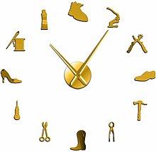 Reloj de Pared Zapatería Herramienta de Zapatero