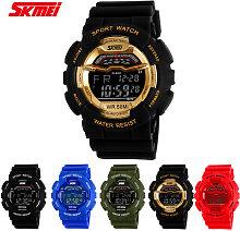Reloj de pulsera digital SKMEI 5ATM resistente al