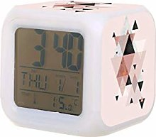 Reloj despertador digital con luz de noche de