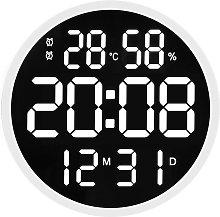 Reloj electronico silencioso redondo de 12