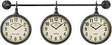 Relojes industriales de metal con efecto