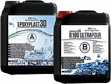 Resina epoxi epoxi de 5,6 kg, 3D hasta 10 cm (100
