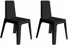resol set de 2 sillas de diseño Julia para