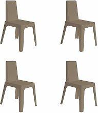 resol set de 4 sillas de diseño Julia para