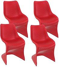 Resol Silla Bloom - Color Rojo, Set de 4 Unidades