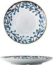Retro creativo azul y blanco porcelana vajilla