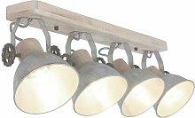 RETRO Foco de techo Luz de madera -Lámpara de