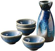Retro Japonés Sake Set de cerámica Flagon licor