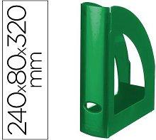 Revistero plastico verde opaco - Q-connect