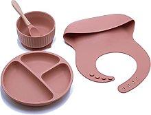 RG-FA 4 PCS Baby Silicone Dish Set Vajilla de
