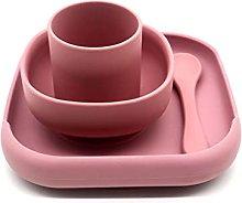 RG-FA 4 piezas bebé silicona cena plato lechón
