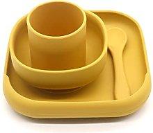 RG-FA 4 piezas de silicona para bebé plato de