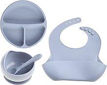 RG-FA 4Pcs/Set Silicona Bebé Alimentación Tazón